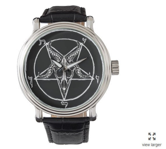 Baphomet Pentagram 666 vintage style watch