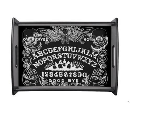 Ouija Board Angel Serving tray in black