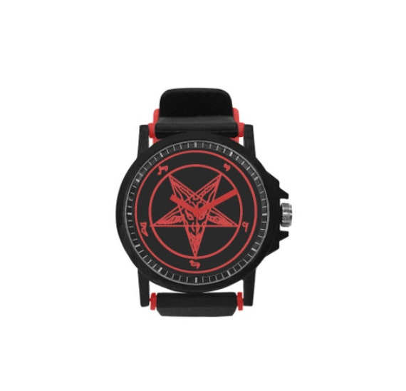 Red Baphomet sport style watch