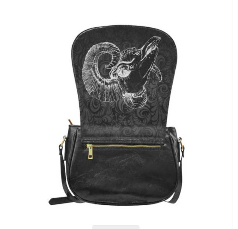 Ram Skull Saddle bag