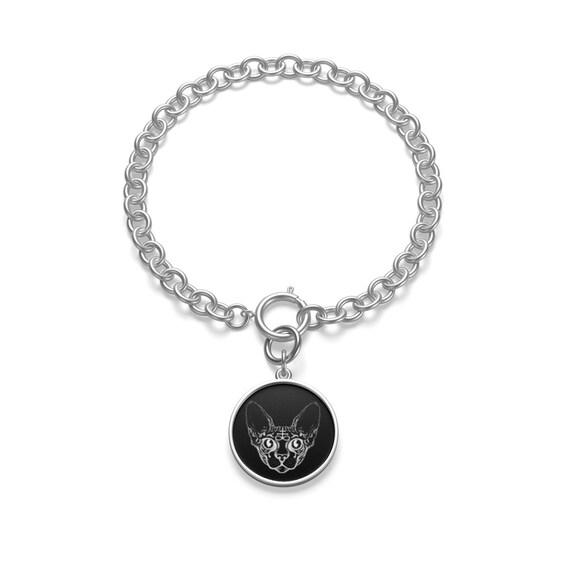 Sphinx Cat Chunky Chain Bracelet