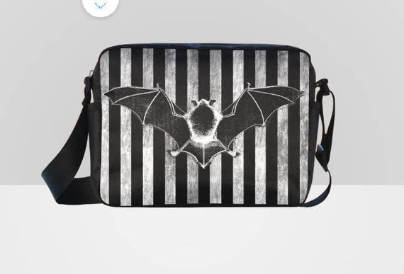 Bat Striped Cross-body Bag