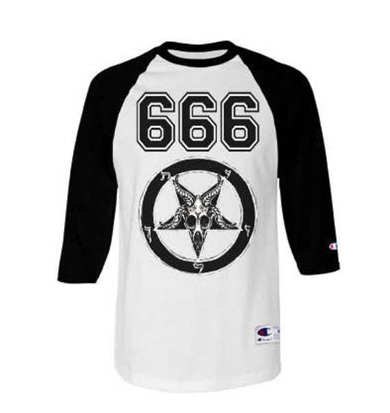 Team Satan Champion Raglan T Shirt