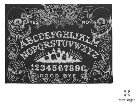 Ouija Board Welcome Mat in Black