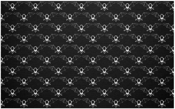 "Vampire Bat fabric Fat Quarter 28""x18"""