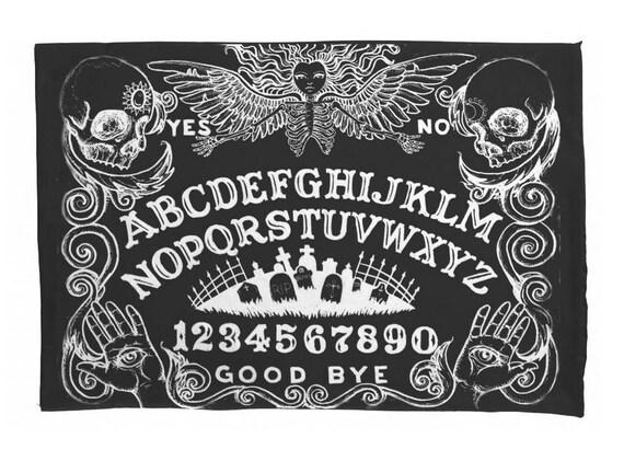Ouija Board Black pillow case