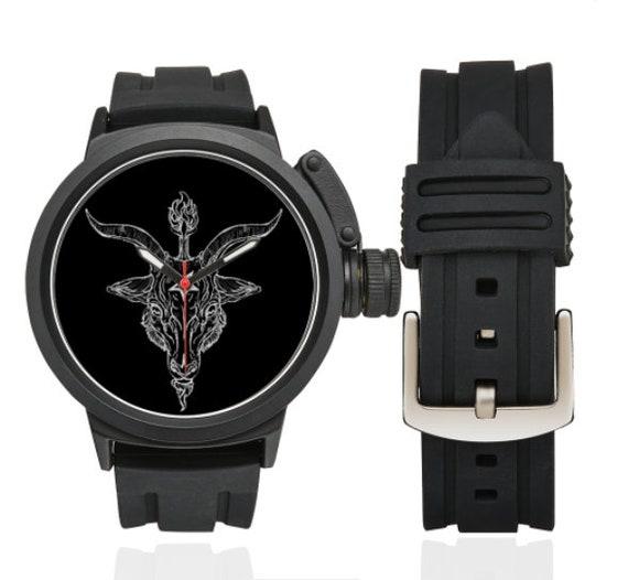 Baphomet Black Phillip sport style watch