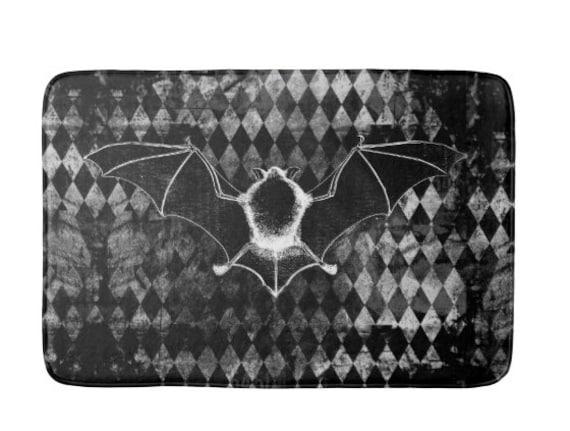 Vampire Bat Gothic Bath Mat