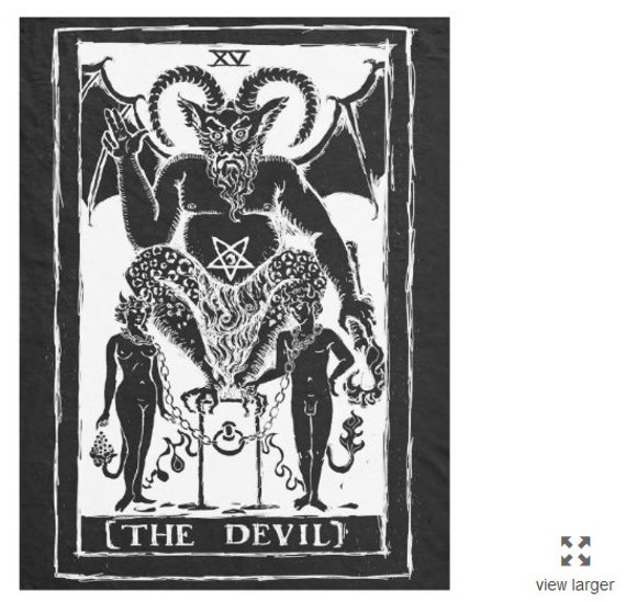 The Devil Tarot fleece blanket