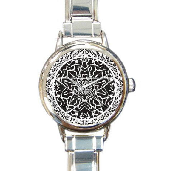 Pentacle or Pentagram Lace Italian Charm Watch