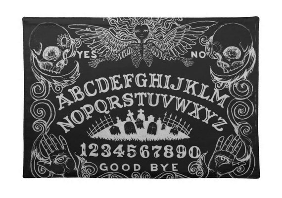 Ouija Black place mat