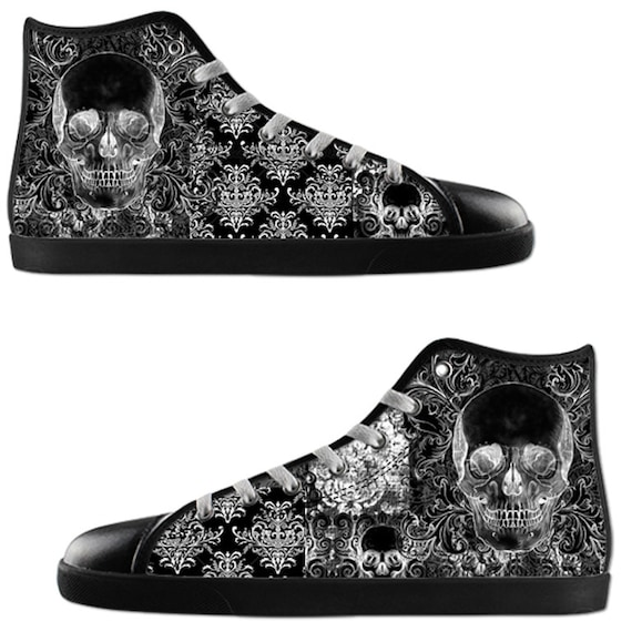 Quilted Skull Gents High tops