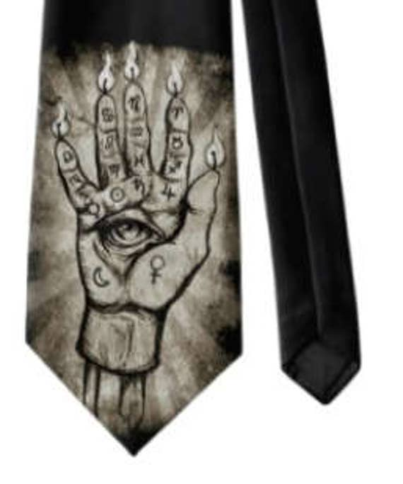 Hand of Glory Occult Neck Tie