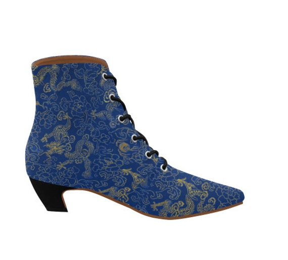 Blue Dragon pointy boots Ladies