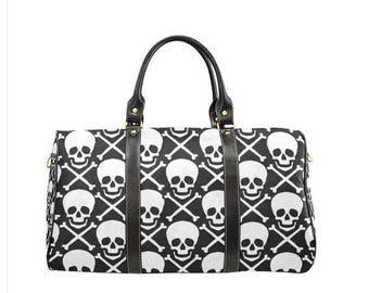 Skull and Crossbones Waterproof Travel Bag