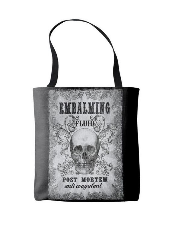 Embalming Fluid Tote Bag
