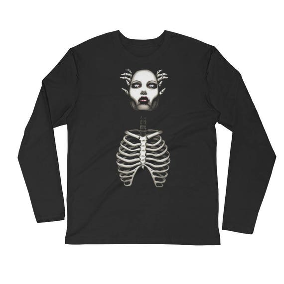 Sinister Long Sleeve Fitted Crew