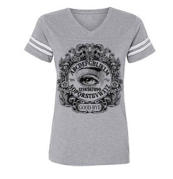 Ouija Mystic Eye Ladies Football Jersey Tee