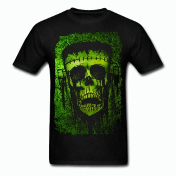 Frankenstein's Monster Skull Tee shirt