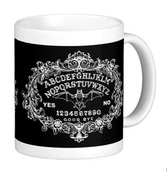Gothic Ouija Bat Coffee Mug