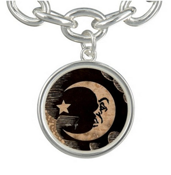 Ouija Moon charm, with or without bracelet