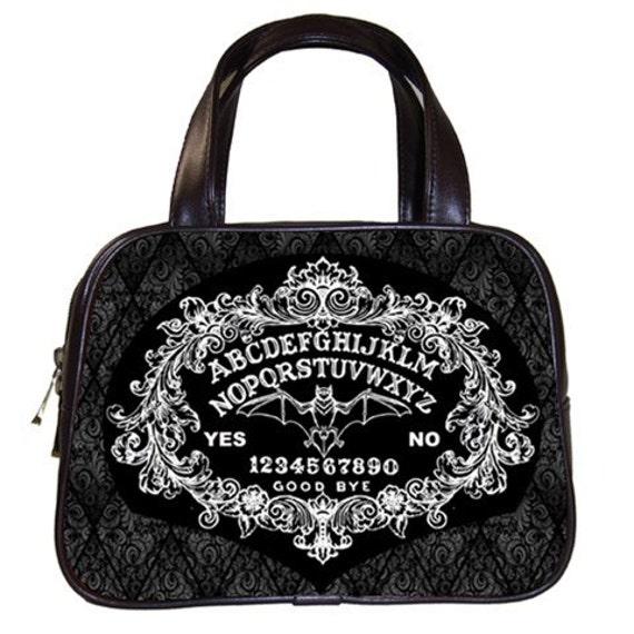 Ornate Ouija Board with Bat Handbag