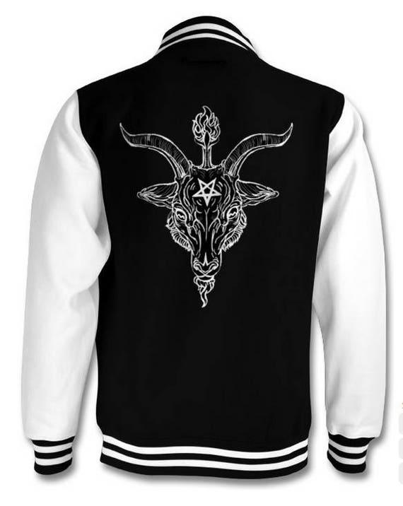 Baphomet Black Phillip Varsity jacket