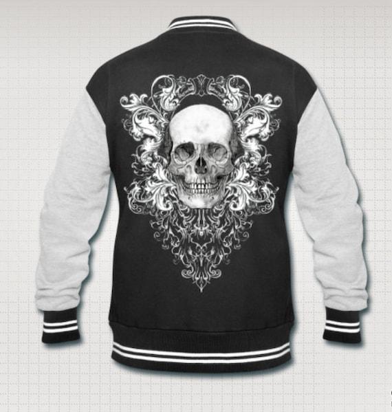 Baroque Skull varsity Goth jacket