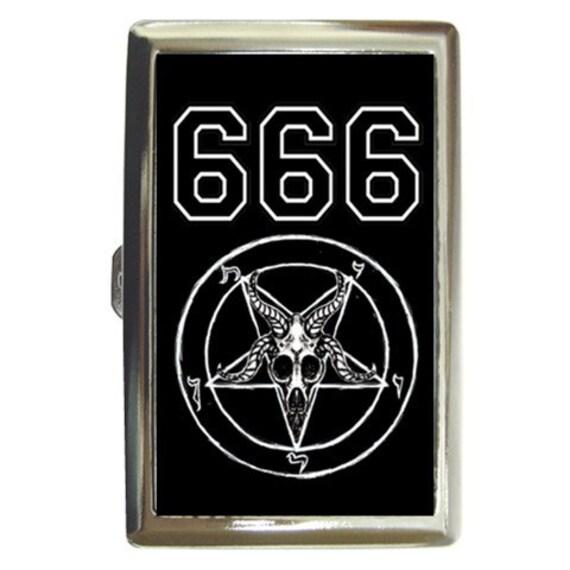 Team Satan Baphomet 666 cigarette case