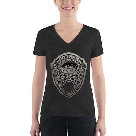 Mystic Eye Ouija Planchette Women's Fashion Deep V-neck Tee