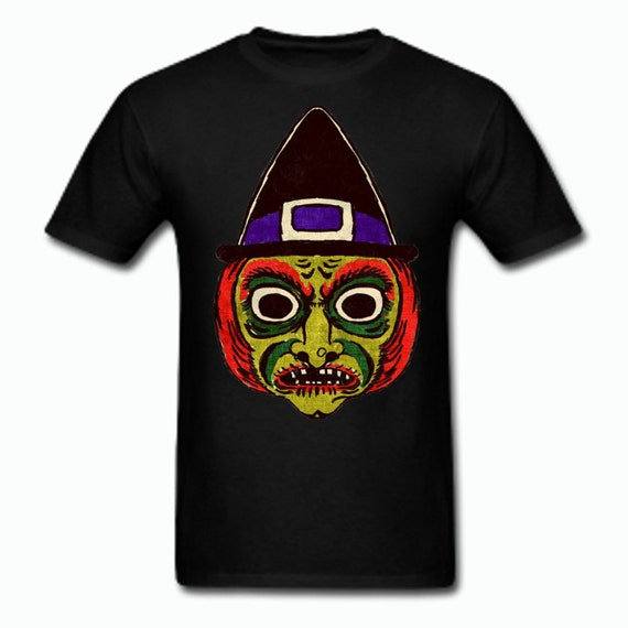 Wicked Witch Vintage Halloween Mask Tee