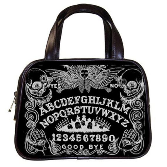 Ouija Board Black Handbag