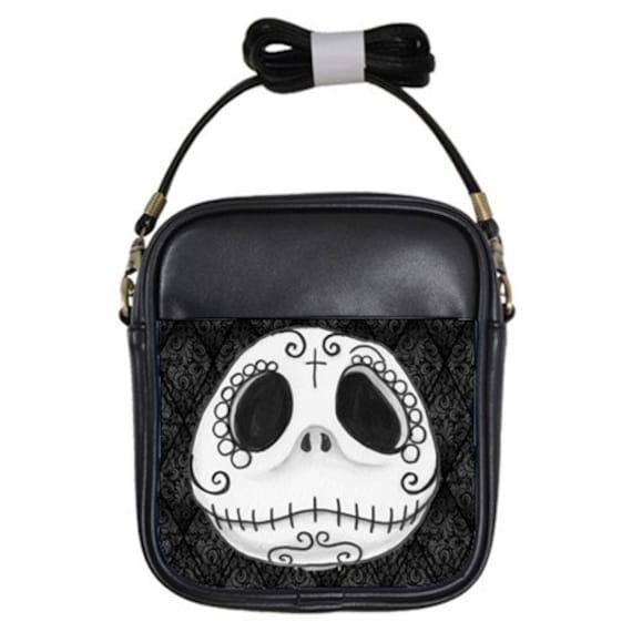 Sugar Skull Jack Skellington shoulder sling purse