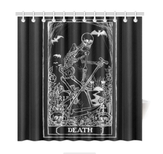 Death Card Tarot Card Shower curtain
