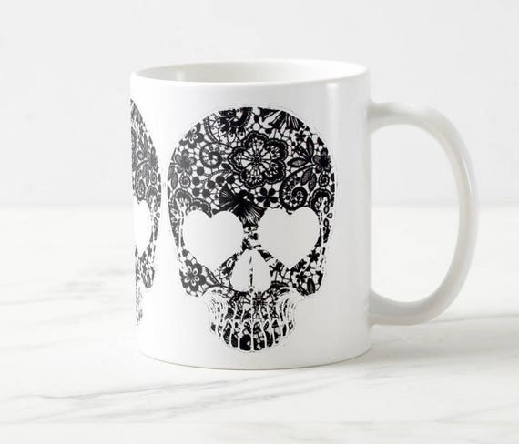Lace Skull Coffee Mug