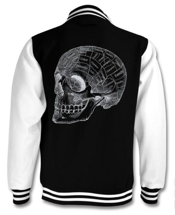 Phrenology Skull varsity Goth jacket