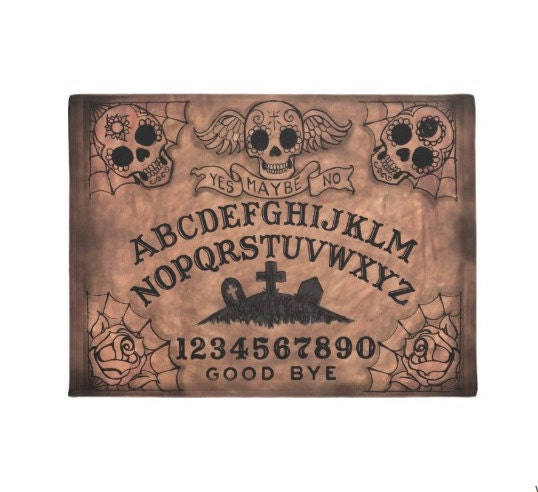 Sugar Skull Ouija Board Welcome Mat Etsy