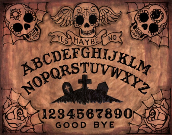 Day of the Dead Ouija board archival print