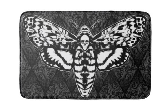 Skull Head Moth Bath Mat
