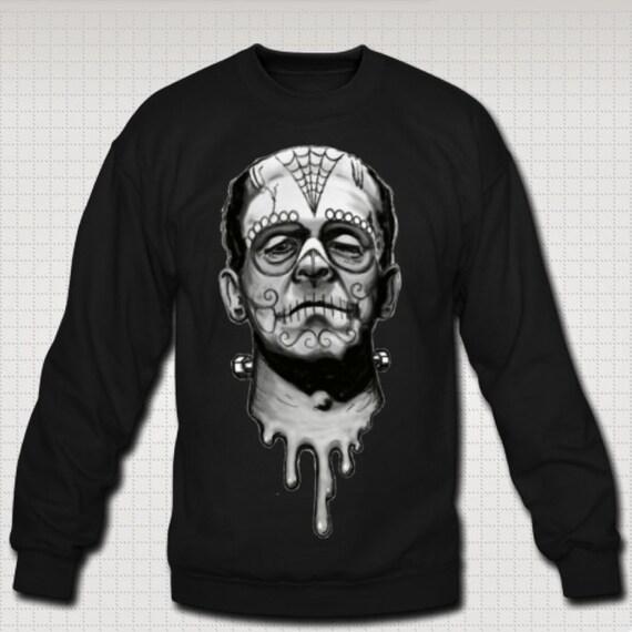 Dia de los Muertos Frankenstein sweat shirt