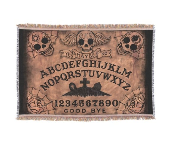 Ouija Sugar Skull Throw Blanket