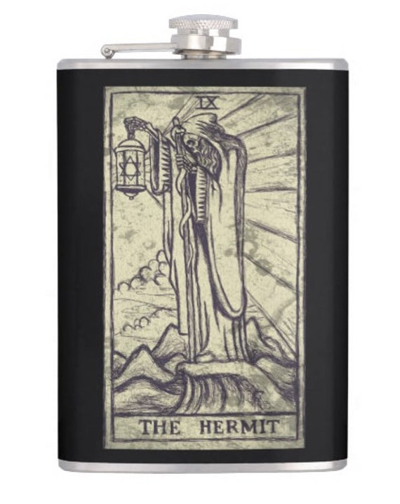 The Hermit Tarot alcohol flask