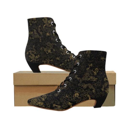 Black Dragon pointy boots Ladies