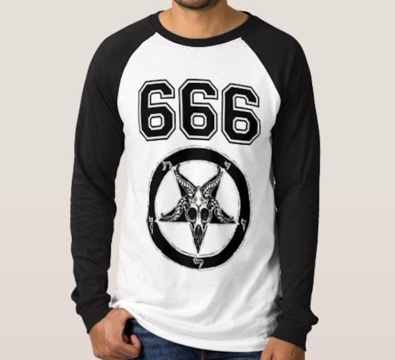 Team Satan 666 gents raglan