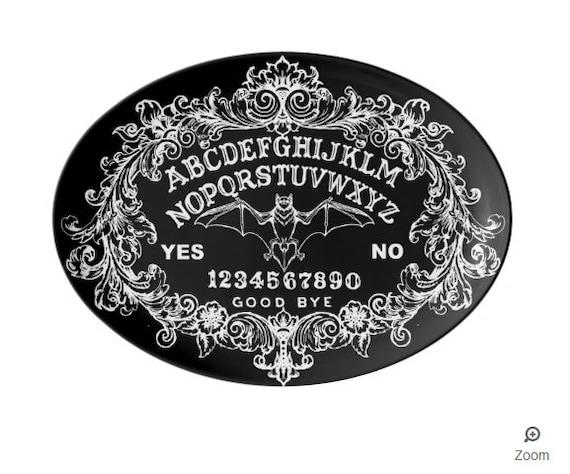 Bat Ouija Board Porcelain Platter