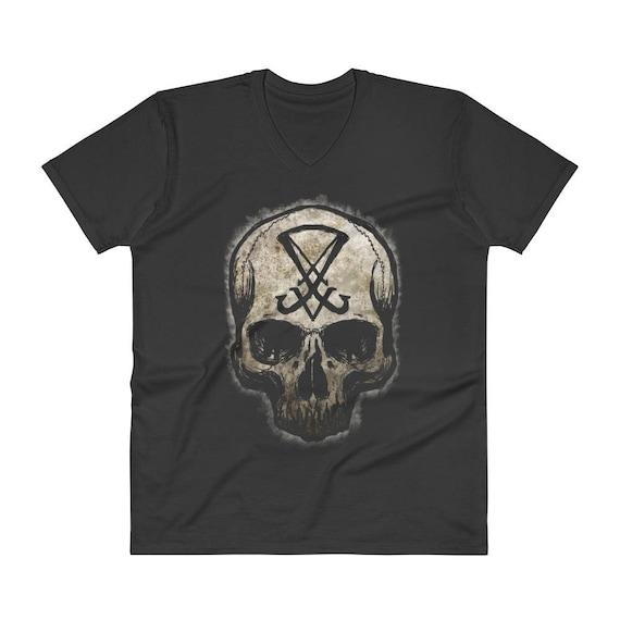 Sigil of Lucifer V-Neck T-Shirt