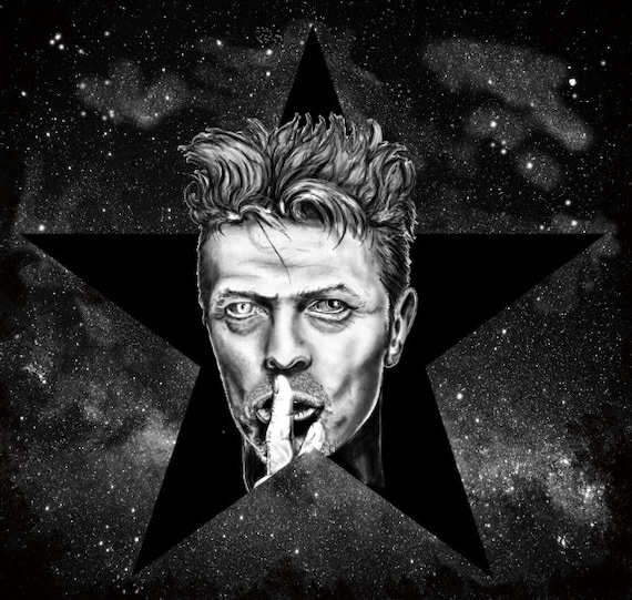 David Bowie Black Star stretched canvas print