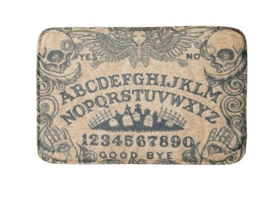 Ouija Board Angel Bath Mat Beige