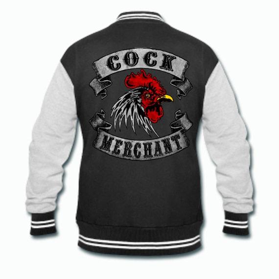 Cock Merchant Black and Gray varsity jacket