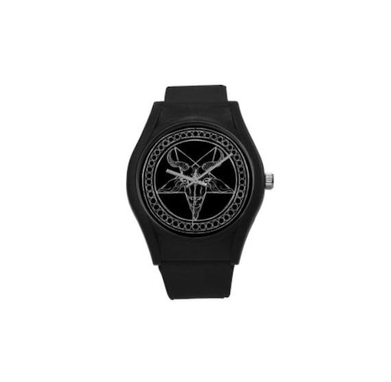 Black Phillip Baphomet Plastic Watch